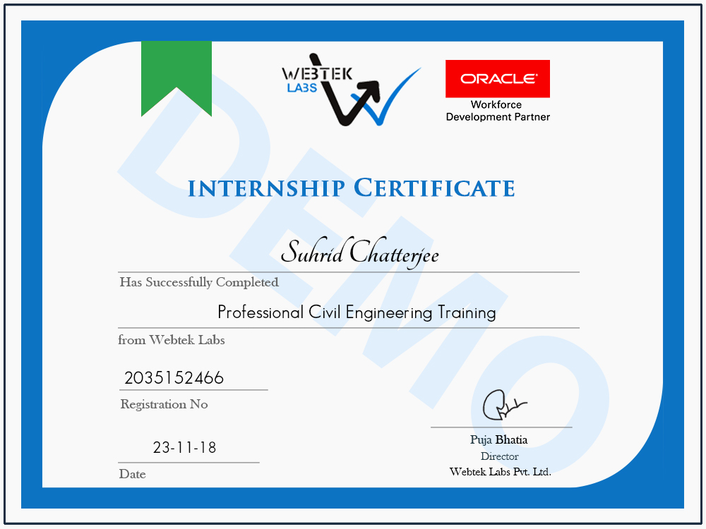 civil engineering certificate training students certification courses labs webtek